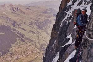 Martin in der Eiger Nordwand