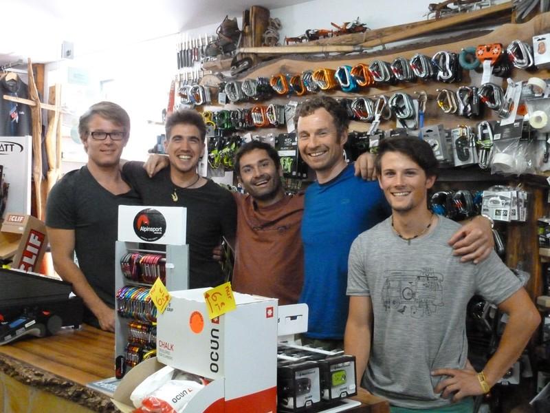 Kraxl Kletterbekleidung Team, Alpinsportzentrale Landsberg Team
